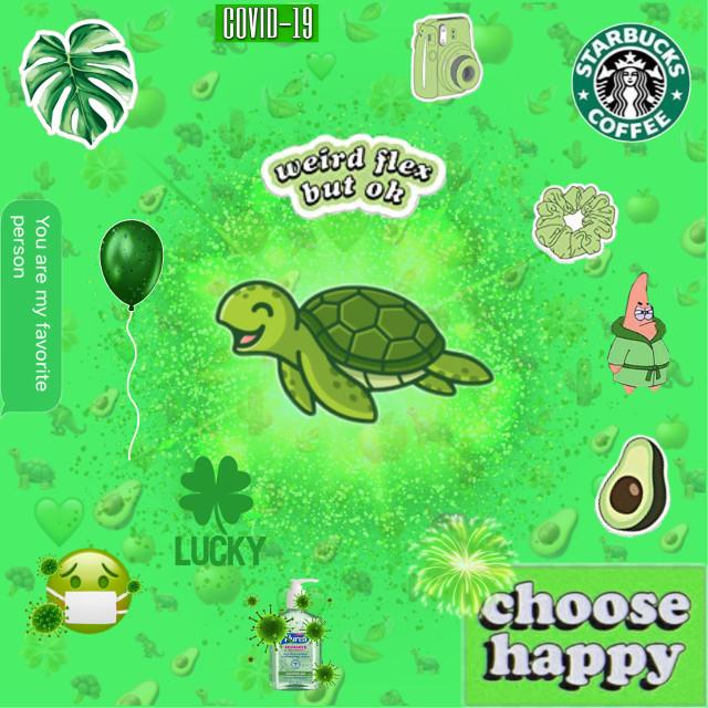 #green #aesthetic #spongebobandpatrick #coronavirus #freetoedit