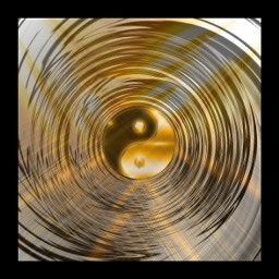 freetoedit yingyang golden abstract remix
