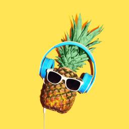 likeit followmeplease pinneapple headphone green