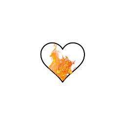 heart flames red orange aesthetic freetoedit