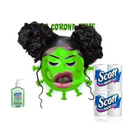 freetoedit coronavirus toiletpaper wig handsanitizer