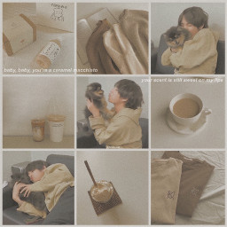 bts v taehyung pastel brown cccozycollages cozycollages