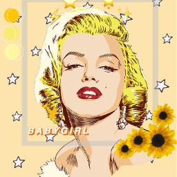 freetoedit marilynmonroe yellow