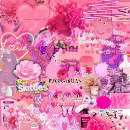 pink collage cute neon art freetoedit