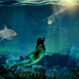 freetoedit sea ocean underwater girl