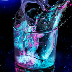 freetoedit dolphin water cup neon srcsplash splash