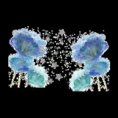 freetoedit watercolor flower star gliter