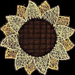 yarn sunflower flower crafts diy freetoedit