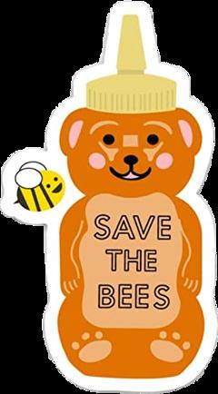 bear bee orange pink yellow freetoedit