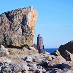 freetoedit outdoorphotography oceanview rocks alonetime