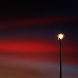 twilight streetlight sky minimalist photography freetoedit