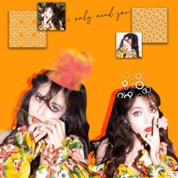 freetoedit hyuna flowershower kpop idol