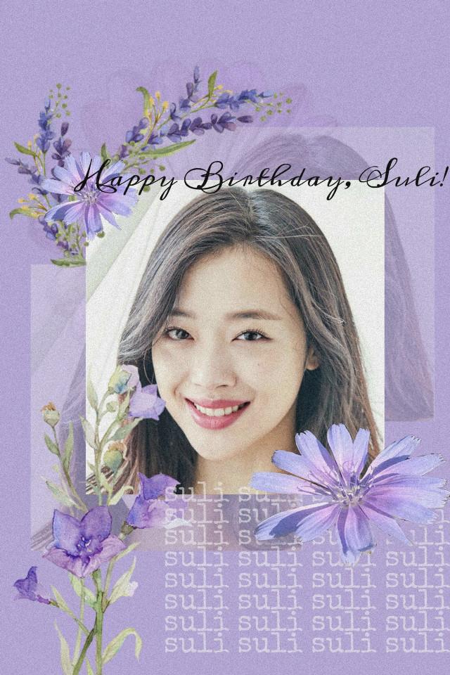 #suli #choijinri #jinri #happybirthday #birthday #happybirthdaysuli #purple #edit