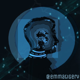 freetoedit people aesthetic silhouette boy blue challenge repeating vote shadow