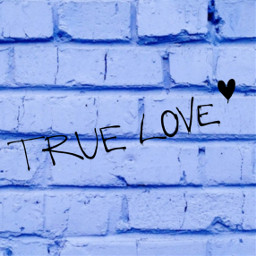 graffiti truelove blue freetoedit