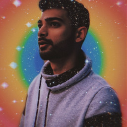 freetoedit rainbow men stars glitter