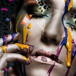 girl model cheetah paint neon freetoedit srcaestheticstars aestheticstars createfromhome stayinspired