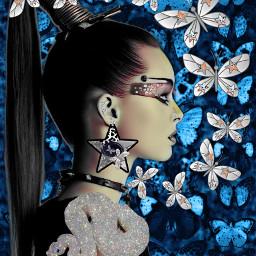 freetoedit woman srars butterfly butterflies srcaestheticstars