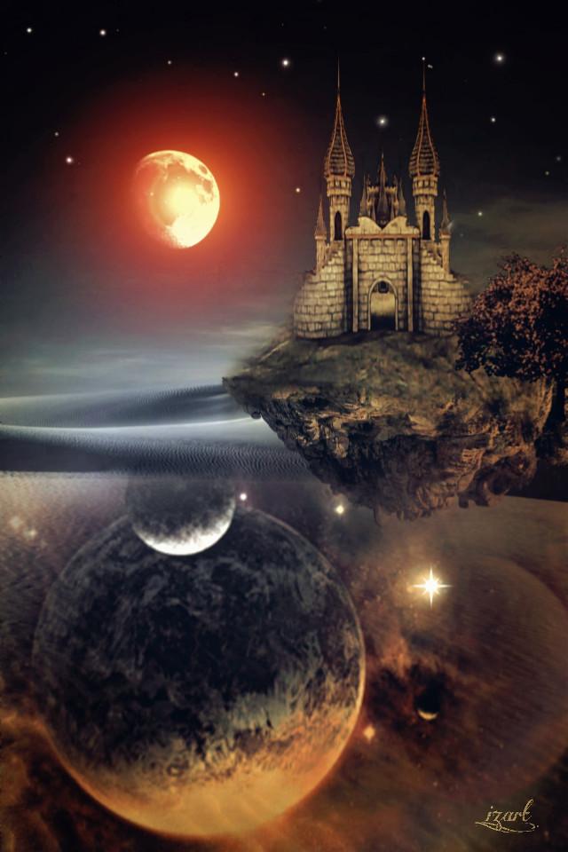 #freetoedit #remixed #picsart #surreal #myedit #castle