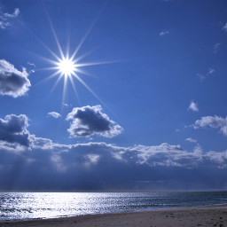 freetoedit naturephotograpy oceanview cloudysky sunburst