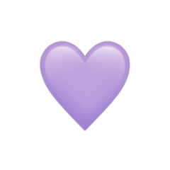 freetoedit heart heartemoji sticker lavender