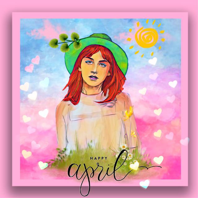 #freetoedit #picsart #art #creative #createfromhome #paint #pink #april #women #girl #remix #remixit