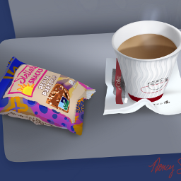 coffee snack pretzels airplanesnack mydrawing freetoedit
