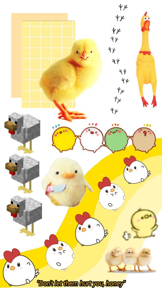 #freetoedit #chicken #wallpaper #yellow #aesthetic