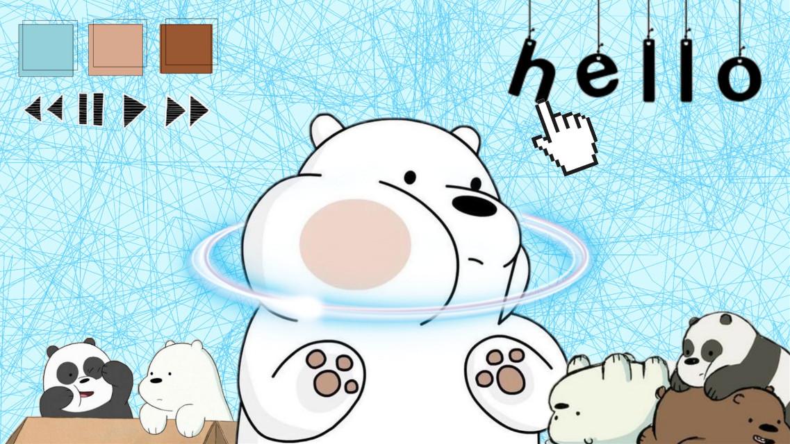 #freetoedit #icebear #ice #bear #bears #webarebears #cartoon #animation #animal #cute #blue #aesthetic #desktopwallpaper #wallpapers #wallpaper #digital #animals #hello #stayhome #pastel #photo #photoedit #edit #editing #desktop