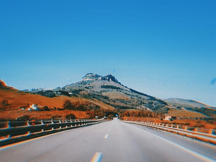 #freetoedit  #road #nature #sicily #landscape #sky #photography #mountains