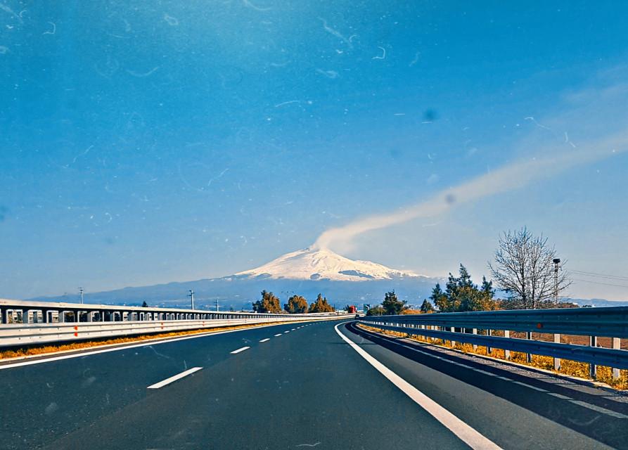 #freetoedit #road #sicily #landscape #etna #sky #photography