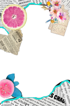 freetoedit frame newspaper fruits flowers
