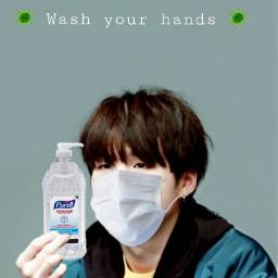 freetoedit corona coronavirus sanitizer mask