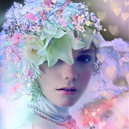 myoriginalwork originalart conceptart womanportrait colorful srccherryblossompetals ecflowereyes freetoedit flowereyes