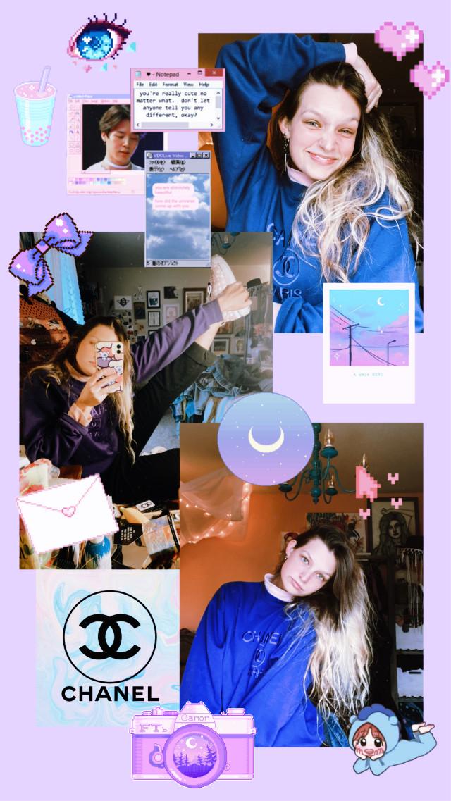 @kittylouu on insta #ootd #chanel #fashion #bts #aesthetic #purple  #freetoedit