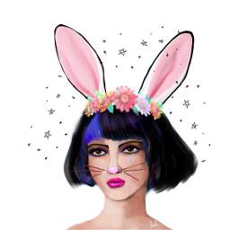 bunnyears edit beautiful colorful drawing freetoedit