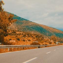 freetoedit road sky sicily landscape