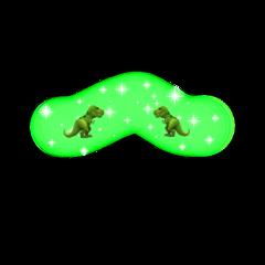 dinosaur green blush sparkle crown freetoedit