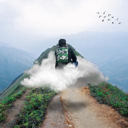 freetoedit pemandangangunung pemandanganalam awan gunung