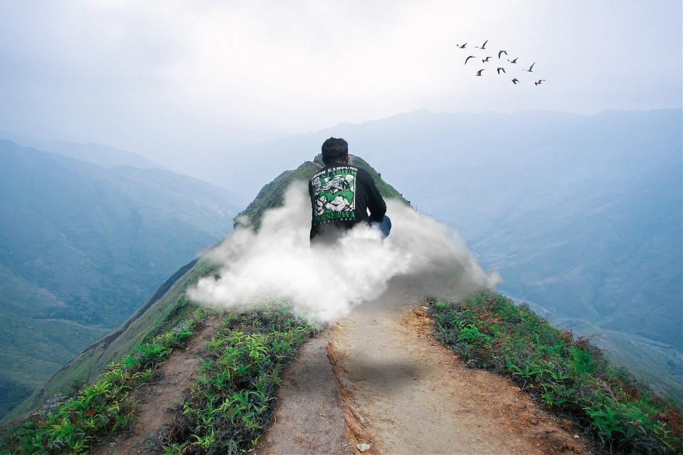 #freetoedit #pemandangangunung #pemandanganalam #awan #gunung