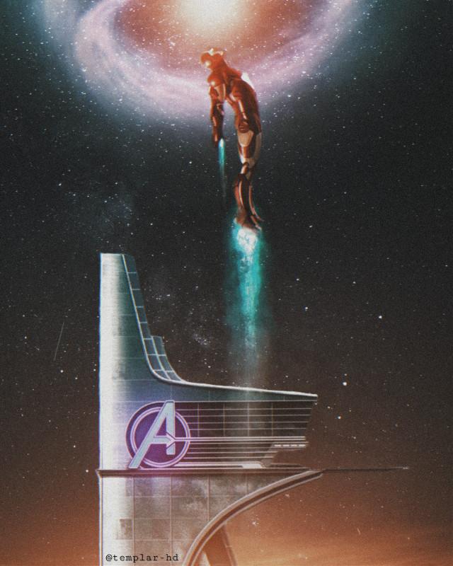 To the infinite #ironman #avengers #superheroe #templarhd #digitalart #freetoedit  AVENGERS Tower image was taken from Pinterest