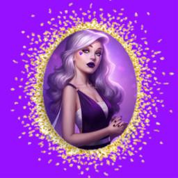 freetoedit фиолетовый девушка блёстки сердце