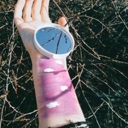 freetoedit зеркало рисунок фиолетовый розовый