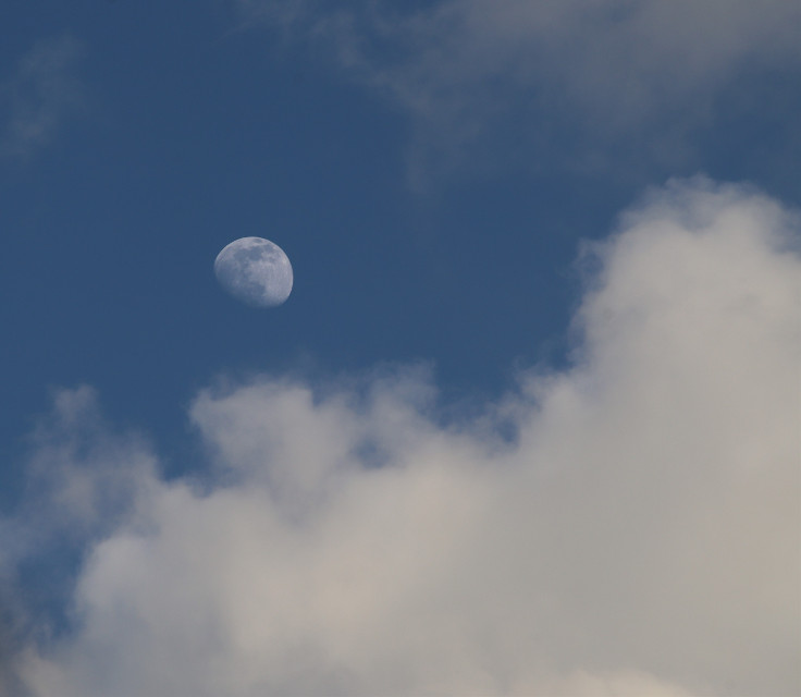 Spotted the Moon #skyandclouds #moon #freetoedit