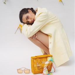 spring yellow style freetoedit model