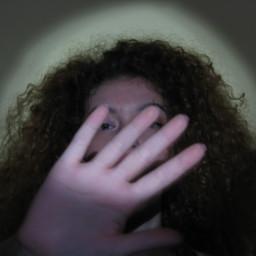 freetoedit girl noface hand curlyhair