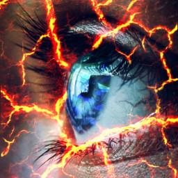 freetoedit eye aesthetic red lava
