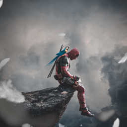 freetoedit deadpool parrot sky clouds