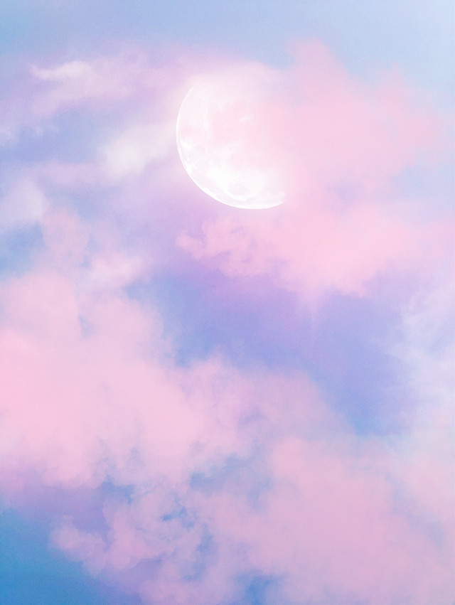 #freetoedit #picsart #madewithpicsart #sky #moon #myedit #pink #remix #remixit