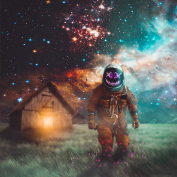 templarhd digitalart astronaut neon surreal freetoedit